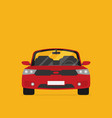 red car front view flat vector image