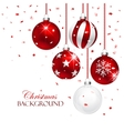 Red Christmas Balls vector image vector image
