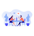 romantic date concept vector image vector image