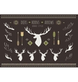 Rustic Antlers Set silhouettes of rustic antler vector image vector image
