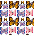 seamless background design with butterflies vector image