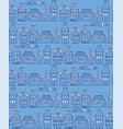 seamless pattern with dutch houses vector image