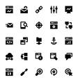 SEO Web Optimization Icons 1 vector image vector image
