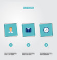 set of job icons flat style symbols with vector image