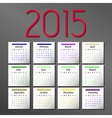 Simple 2015 Calendar calendar design vector image
