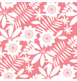 simple tropical floral design seamless pattern vector image vector image