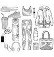 sketch sportswear sport gadgets vector image