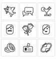Speed dating Icons vector image vector image