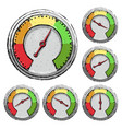 speedometer poor fair good excellent - rating vector image vector image