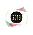 stylish 2019 minimal happy new year background vector image vector image