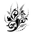 swirly floral pattern icon vector image