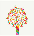 tangram geometry shape tree concept vector image vector image