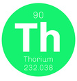 Thorium chemical element vector image vector image