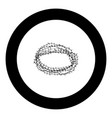 thorn wreath or barbed wire icon black color in vector image
