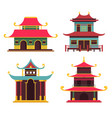traditional japanese buildings home house vector image