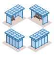 transport isometric blue station collection vector image