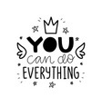 typography motivational poster vector image vector image