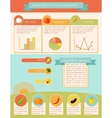 Vegetables Infographic Set vector image