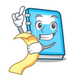 with menu education mascot cartoon style vector image