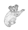 Zentangle stylized koala vector image vector image