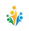 human success teamwork logo vector image
