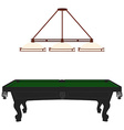 Pool table and lamp vector image