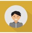 Young asian man Flat design vector image