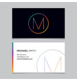 business-card-letter-m vector image