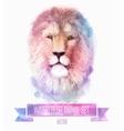set of watercolor Cute lion vector image