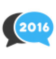 2016 chat halftone icon vector image