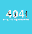 404 page not found of internet vector image vector image