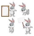 a happy rabbit set vector image