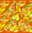 a repeating pattern with autumn leaves suitable vector image