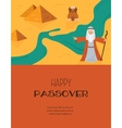Abstract background - out of the Jews from Egypt vector image vector image