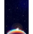 abstract cosmic view background vector image vector image