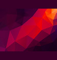 abstract purple red triangles background vector image vector image