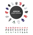 Arrows icons collection vector image vector image