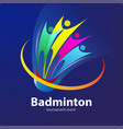 badminton tournament symbol vector image vector image