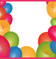 balloons birthday decoration vector image