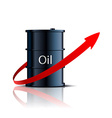 barrel of oil and red arrow vector image vector image