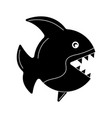 black fish icon vector image vector image