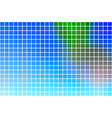 blue green red square mosaic background over white vector image vector image
