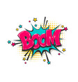 boom pop art comic book text speech bubble vector image vector image