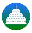 cake with candle sign white icon in vector image vector image