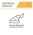 carpet cleaning editable stroke line icon vector image