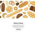 cartoon bakery elements background vector image