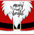 christmas card with santa beard and costume vector image