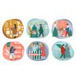 christmas holidays preparation shopping for xmas vector image