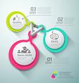 Colorful Circle connection step infographics vector image vector image
