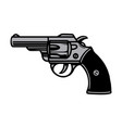 colorful vintage tattoo concept revolver vector image vector image